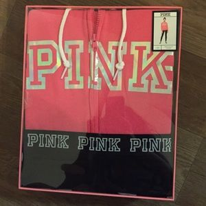 PINK full zip jacket and leggings - brand new !!